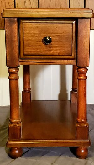 Wooden Side Table/Bedside Table for Sale in Cadillac, MI