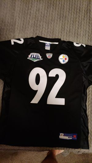 a26dc0a9 LIKE NEW - Super Bowl James Harrison Pittsburgh Steelers Jersey for Sale in  San Diego,