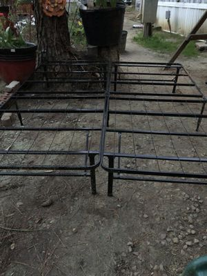Two twin or queen bed frame for Sale in Raleigh, NC