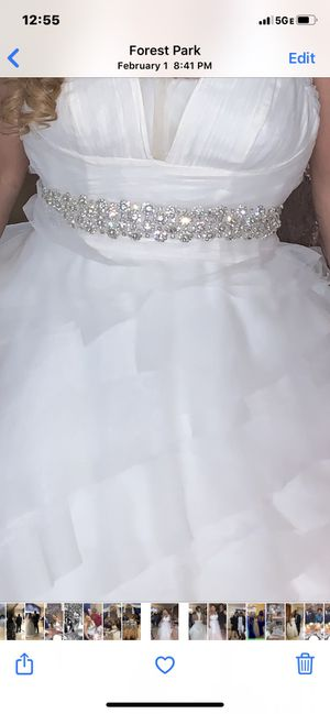 A beautiful Vera Wang wedding dress size 12-16 come with 2 veils and a petticoat for Sale in Cincinnati, OH