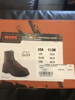 Worx steel toe work boots for Sale in St. Louis, MO