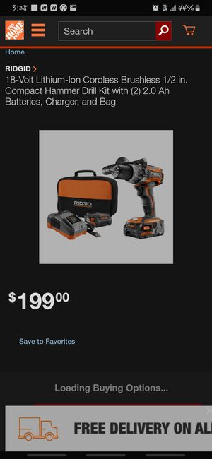 Ridgid brushless 18 volt compact drill and driver kit for Sale in Ontario, CA