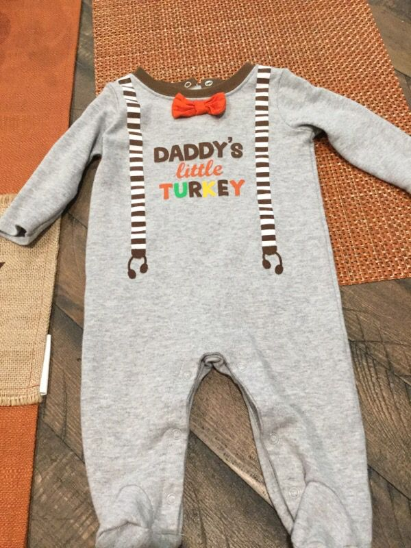 Baby first thanksgiving jumpsuit