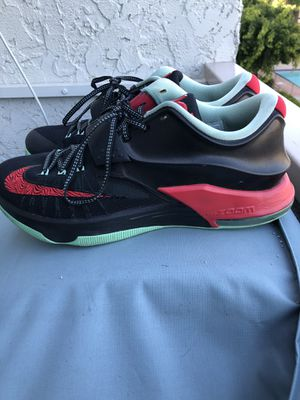 Nike KD VII 7 Good Bad Apples Black/Action Red/Medium Mint Size 12. for Sale in Cypress, CA