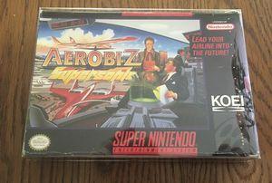 Aerobiz Supersonic SNES Koei Super Nintendo for Sale in Dunstable, MA