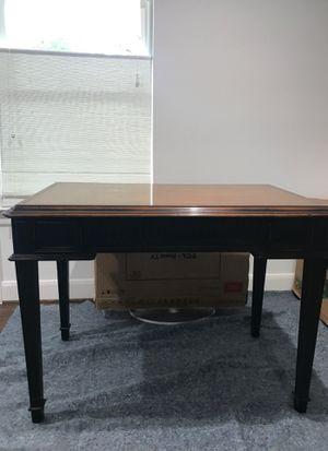 Secretary Desk oak wood like new condition with chair for Sale in Dallas, TX