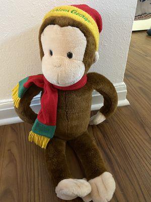 Macy'Curious George Plush Stuffed Monkey w/ Hat, Scarf, for Sale in Newport News, VA
