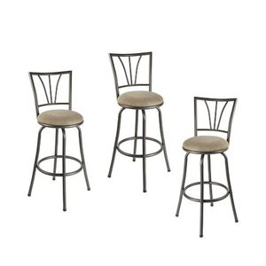 Adjustá ble Height Swivel Tan Bar Stool (Set of 3) for Sale in Arcadia, CA