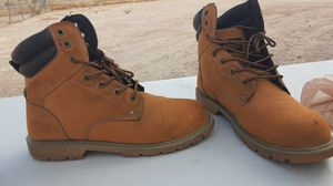 Size 12 coleman work boots they have a small tear in front for Sale in Avondale, AZ