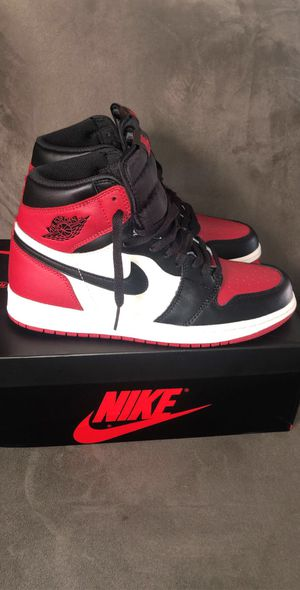 Jordan 1 bred toe for Sale in Oxon Hill, MD