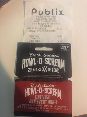 Howl O Scream Ticket for Sale in Land O Lakes, FL