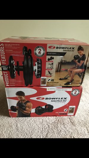 New-in-Box Bowflex SelectTech 552 adjustable dumbbells for Sale in Woodinville, WA