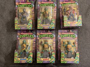 TMNT Classic Collection 6 piece LOT Playmates Animated Teenage Mutant Ninja Turtles NEW for Sale in San Diego, CA
