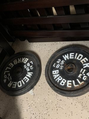 Set of 25lb weight plates for Sale in Fort McDowell, AZ