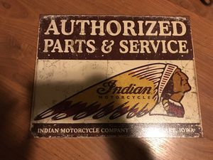 "Indian motorcycles man cave sign 16""w x 12.5""h for Sale in Anaheim, CA"