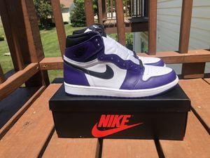 Jordan 1 Court Purple 2.0 , sz 12 , DS for Sale in Florissant, MO