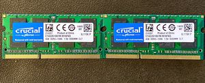 Crucial PC3-8500 4GB SO-DIMM 1066 MHz PC3-8500 DDR3 SDRAM Memory (CT4G3S1067M) for Sale in Denver, CO