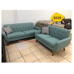 Two Piece Sofa Set New Assembled & Ready To Go 😌 Qualify To Buy Now & Pay In 90 Days 🙂 for Sale in Bell,  CA