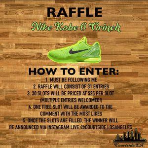 Nike Kobe 6 Grinch Raffle for Sale in Long Beach, CA