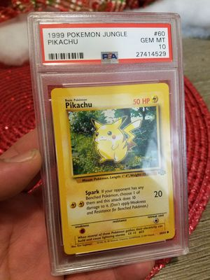 Pokemon Pikcahu psa perfect 10 old 90s card original for Sale in Garland, TX