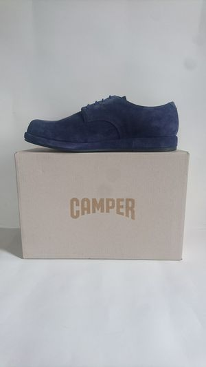 Camper Fidelius Men's Suede Derby Oxford Shoes EU 42 / US 9 Navy MSRP $215 for Sale in Cleveland, OH