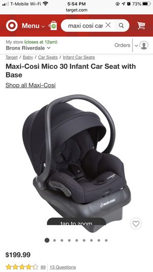 Infant Car Seat with Base for Sale in The Bronx, NY