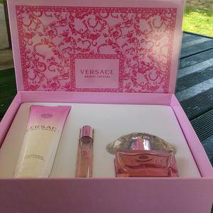 Original perfume Bright cristal 3pcs set by versace for Sale in Rialto, CA