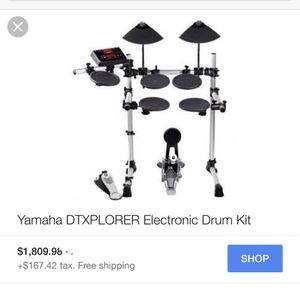 Yamaha DTXPLORER Electric drum set with seat for Sale in Los Angeles, CA