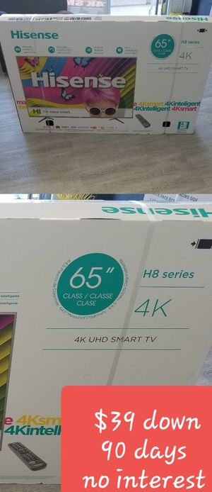65 inch TV 4k Smart 💵💵39 down NO 💳💳check for Sale in Montclair, CA