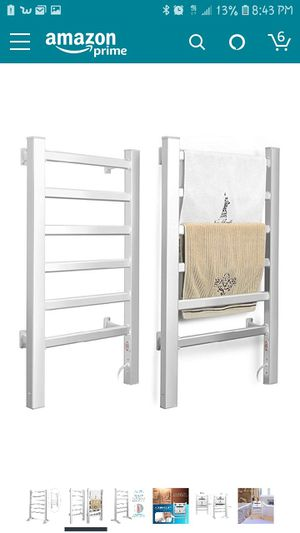 INNOKA 2-in-1 Towel Warmer and Drying Rack, Heated Towel Rack, Free Standing & Wall Mount (UL Certified) with 6 Bars & Aluminum Frame for Bathroom for Sale in Antelope, CA