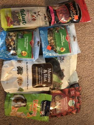 Assortment of small animal food for Sale in Farmington, MI