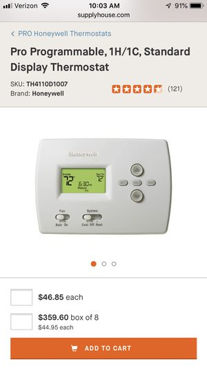 Honeywell programmable thermostats for Sale in Simpsonville, SC