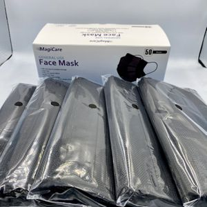 Black Disposable Face Masks — 50 pc for Sale in Downey, CA