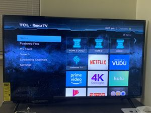 TCL 50 inch 4K HRD smart tv for Sale in Baltimore, MD