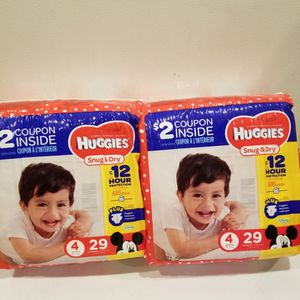 Huggies Size 4 $6 Each Bag for Sale in Ontario, CA