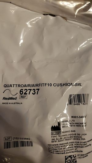CPAP QUATTROAIR/AIRFITF10 CUSHION WITH FILTER for Sale in Glendale, AZ