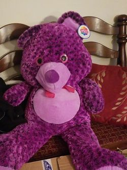3ft Purple Teddy Bear for Sale in Thornwood,  NY