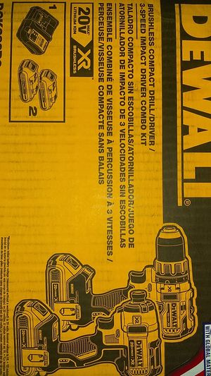DeWalt Drill/Driver & 3-Speed Impact Driver Combo Kit for Sale in Taylors, SC