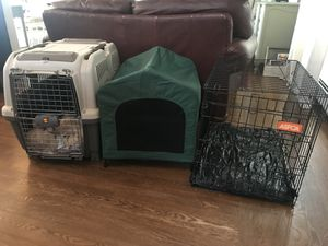 2 Dog crates and a doggie tent for Sale in Chelsea, MA