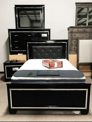 ❄❄ BRAND NEW ❄Allura Black LED Panel Bedroom Set for Sale in Jessup, MD