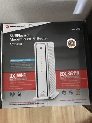 ARRIS SURFboard AC1750 DOCSIS 3.0 cable modem router for Sale in Anaheim, CA