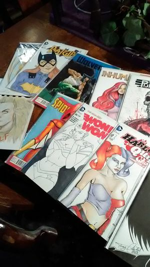 18 sketch original art comic collection hand done hand painted for Sale in Las Vegas, NV
