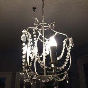 KRISTALLER 3 ARM STEEL AND GLASS CHANDELIER for Sale in Washington, DC