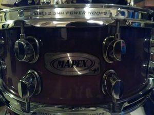 Mapex natural wood 10 lug snare drum 14in by 5.5in for Sale in Clinton, MD