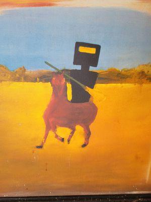 Outback steakhouse robot on horse artwork for Sale in Jupiter, FL