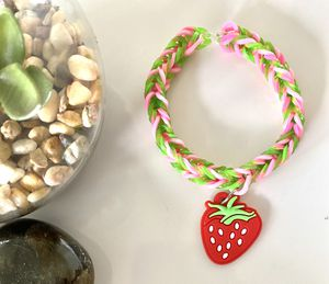Handmade Stretchy Bracelet with Charm | Girls Age 6-11 for Sale in Los Angeles, CA