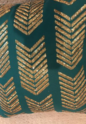 Teal and Gold throw pillow set for Sale in San Diego, CA