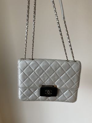 Chanel silver cross body bag for Sale in New York, NY