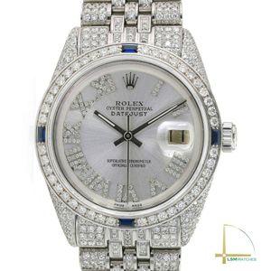Rolex Mens Datejust 36mm Steel Silver Diamond Roman Fully Loaded Diamond for Sale in Los Angeles, CA