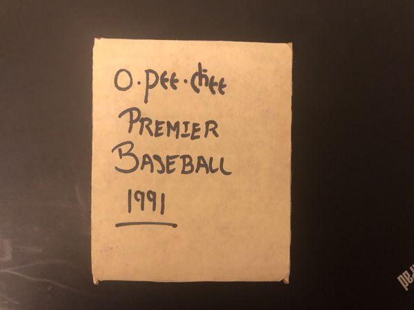 1991 O-Pee-Chee Premier Baseball Card Set